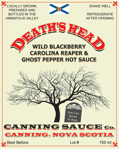 Death's Head - Wild Blackberry Carolina Reaper & Ghost Pepper Hot Sauce