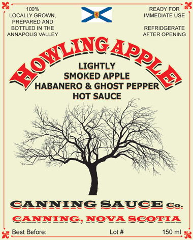 Howling Apple - Lightly Smoked Apple, Habanero & Ghost Pepper Hot Sauce