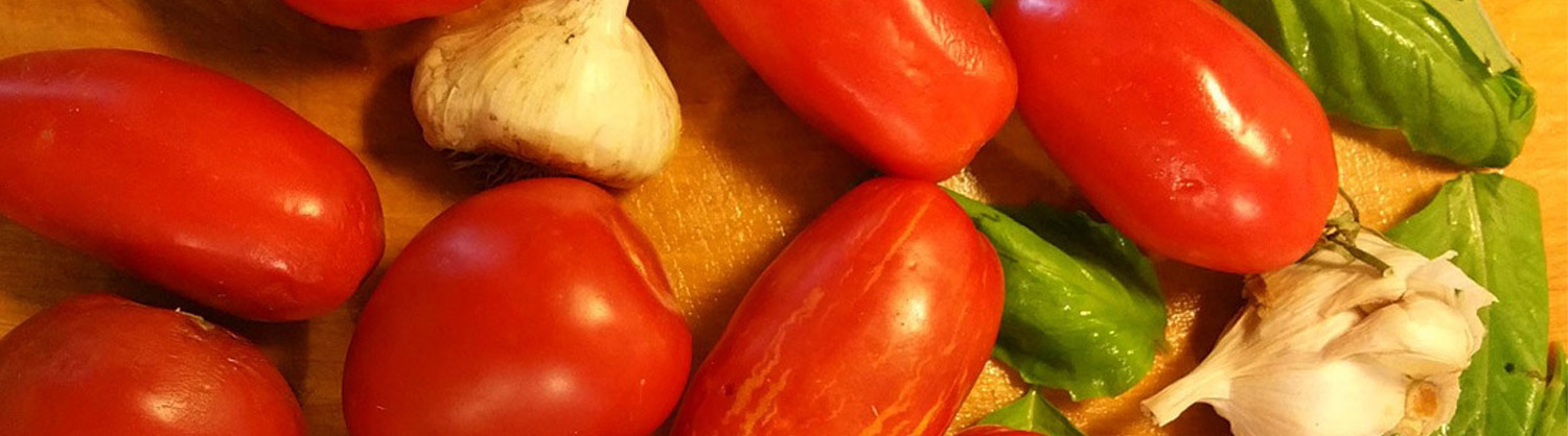100% locally grown heirloom paste tomatoes