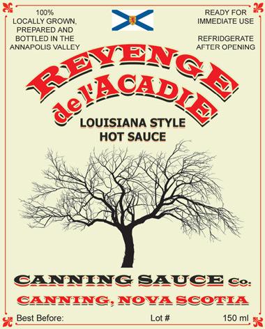 Revenge de L'Acadie - Louisiana Style Hot Sauce